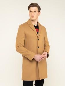 Brązowy płaszcz męski Hugo Boss
