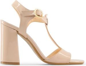 Sandały Made In Italia w stylu glamour z klamrami ze skóry