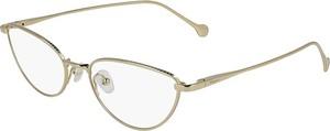 Żółte okulary damskie Salvatore Ferragamo