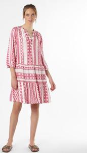 Sukienka comma, mini z długim rękawem z okrągłym dekoltem