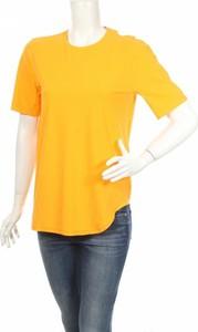 Żółty t-shirt No Ka Oi z okrągłym dekoltem z krótkim rękawem w stylu casual