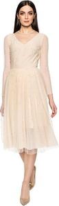 Sukienka L'AF z szyfonu midi