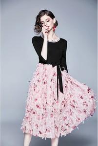 Sukienka Tina z okrągłym dekoltem maxi