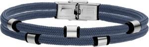 Manoki BA733N niebieska bransoletka męska beads