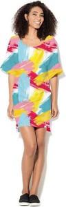 Sukienka COLOUR PLEASURE z dzianiny mini w stylu casual