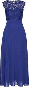 Niebieska sukienka bonprix maxi z okrągłym dekoltem bez rękawów