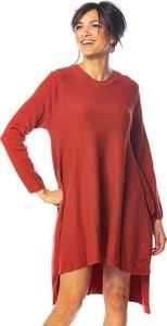 Czerwona sukienka So Cachemire z kaszmiru mini w stylu casual