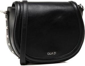 Czarna torebka Quazi na ramię średnia ze skóry