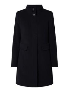 Granatowy płaszcz Gil Bret z wełny