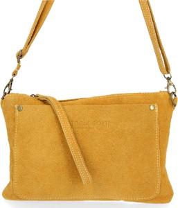 Żółta torebka VITTORIA GOTTI ze skóry w stylu casual