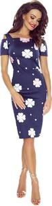 Niebieska sukienka Bergamo z bawełny midi