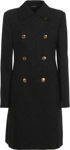 Czarny płaszcz Givenchy w stylu casual z wełny