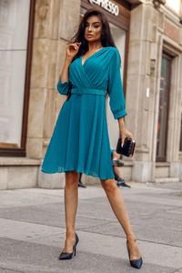 Sukienka Molerin z tkaniny kopertowa