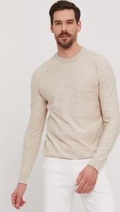 Sweter Selected z bawełny w stylu casual z okrągłym dekoltem
