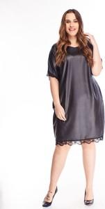 Sukienka N/A dla puszystych midi ze skóry ekologicznej