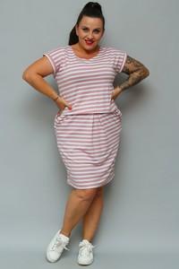 Sukienka KARKO z dresówki z krótkim rękawem mini