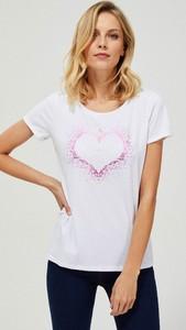 T-shirt Moodo z okrągłym dekoltem