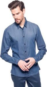 Niebieska koszula Guess z klasycznym kołnierzykiem
