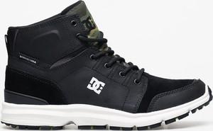 Czarne buty zimowe DC Shoes z zamszu sznurowane
