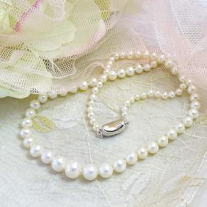 Braccatta ANISSA Naszyjnik z białych naturalnych pereł stopniowany kolia