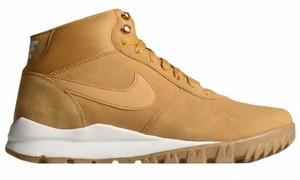 Żółte buty zimowe Nike z zamszu