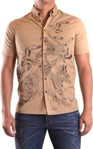 Brązowa koszula Dsquared2 z bawełny z krótkim rękawem