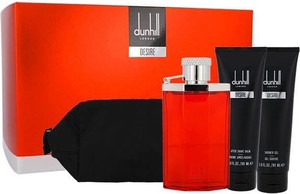 Dunhill Desire Woda toaletowa M 100 ml Edt 100ml + Żel pod prysznic 90ml + Balsam po goleniu 90ml + Kosmetyczka