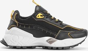 Czarne buty sportowe Gemre.com.pl ze skóry sznurowane