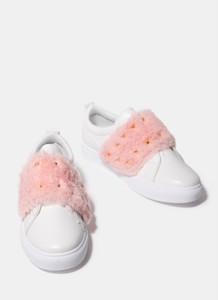 Deezee biało różowe buty sportowe lissa