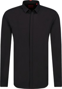 Czarna koszula Hugo Boss z długim rękawem