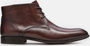 Brązowe buty zimowe Kazar sznurowane