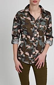 Koszula Gate z bawełny z długim rękawem z kołnierzykiem