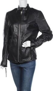 Czarna kurtka Tigha ze skóry w stylu casual krótka