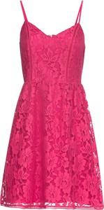 Różowa sukienka bonprix BODYFLIRT trapezowa