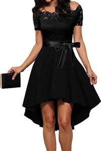 Czarna sukienka Arilook asymetryczna