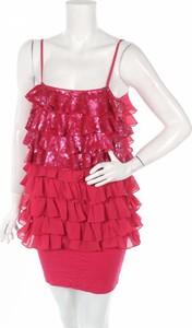 Różowa sukienka Miss Sixty na ramiączkach mini