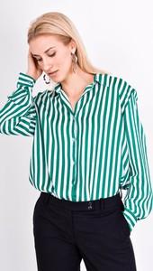 Zielona koszula Zoio z długim rękawem