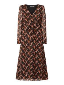 Sukienka NA-KD midi z długim rękawem kopertowa