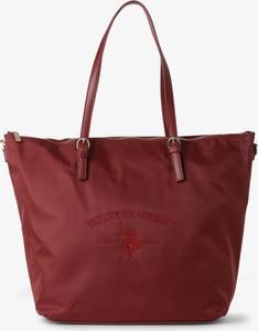 Czerwona torebka U.S. Polo duża w wakacyjnym stylu