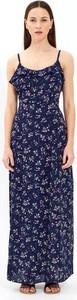 Niebieska sukienka Gate maxi w stylu casual