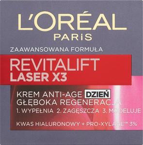 L'Oreal Paris L'Oreal Paris, Revitalift Laser X3, krem Anti-Age głęboka regeneracja na dzień, 50 ml