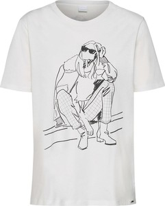 Bluzka Boss w młodzieżowym stylu z krótkim rękawem