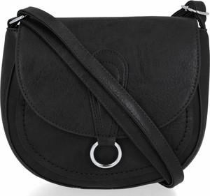 Czarna torebka Bee Bag w stylu glamour na ramię