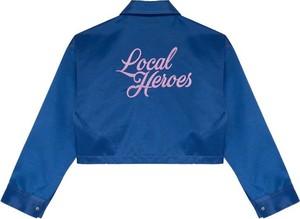 Niebieska kurtka LOCAL HEROES w stylu casual krótka