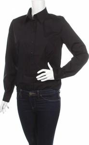 Czarna koszula Nife z kołnierzykiem z długim rękawem w stylu casual