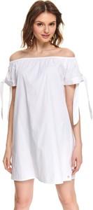Sukienka Top Secret hiszpanka z odkrytymi ramionami z krótkim rękawem