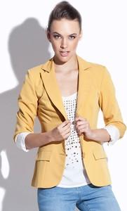 Żółta marynarka Katrus krótka