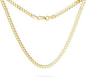 GIORRE MĘSKI ŁAŃCUSZEK PANCERKA CHOKER SREBRO 925 : Długość (cm) - 75 (PODWÓJNY CHOKER), Kolor pokrycia srebra - Pokrycie Żółtym 24K Złotem