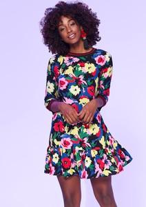 Sukienka Top Secret z okrągłym dekoltem mini w stylu casual