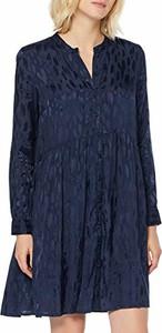 Sukienka amazon.de z długim rękawem z dekoltem w kształcie litery v oversize